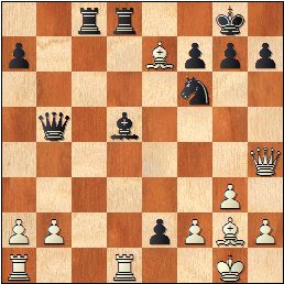 Partida de ajedrez Lehmann - Pomar (1963), posición después de 22...fxe2