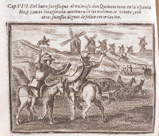 Windmills image from 1674 edition of Don Quixote