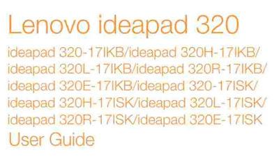 Lenovo IdeaPad 320 User Manual