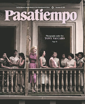 Cover of Pasatiempo magazine with Tony Vaccaro photograph of Girls on a balcony in Puerto Rico