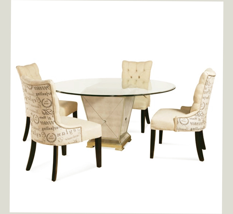 Mirror dining room tables