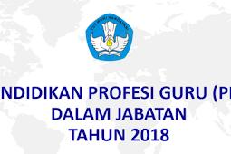 Pedoman Pendidikan Profesi Guru Dalam Jabatan Tahun 2018