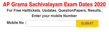AP Grama Sachivalayam Exam Dates 2020