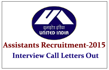 UIIC Assistants 2015 Interview Call Letters Out