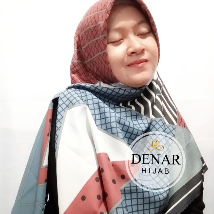 Jilbab Segi Empat Syar'i Terbaru Voal Azzura Premium Denar Hijab