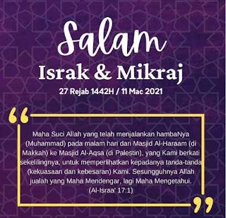 Salam Israk Mikraj 2021.