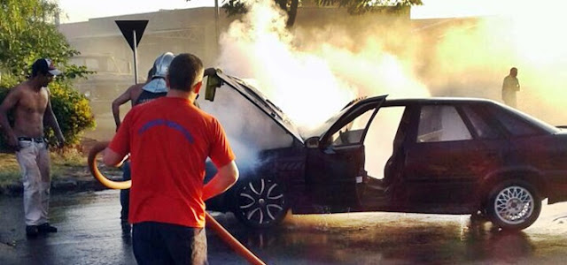 Notícias de Roncador: Defesa Civil controla chamas em veículo no centro da cidade