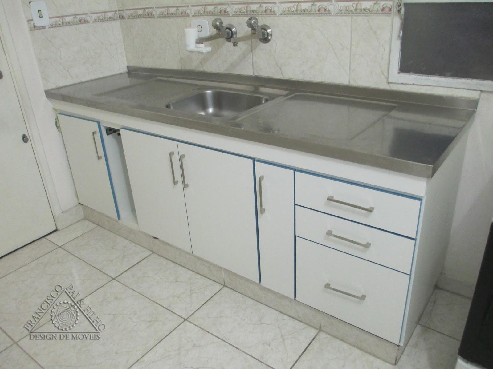 Francisco Pai & Filho Gabinete de Pia para base de Alvenaria com Detalhes -> Como Fazer Pia De Banheiro De Alvenaria