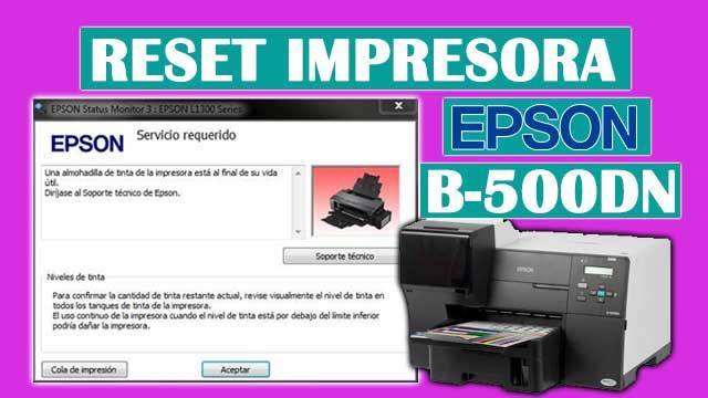 Reset almohadillas de la impresora EPSON B-500DN