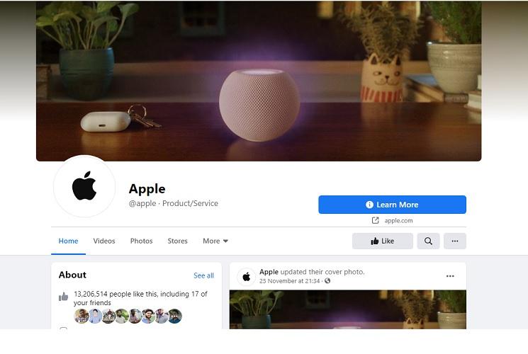 Facebook Unverified Apple