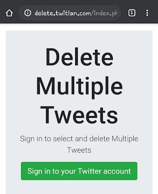 Tweets deleter tool