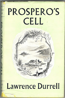 "Cover of the book by Larry Darrell ""Prospero's Cell."" Обложка книги Ларри Даррелла ""Келья Просперо""."