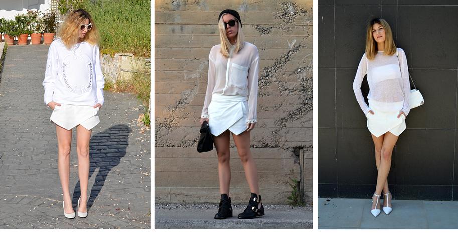 Ca se passe sur la blogo...: la jupe-short asymétrique ... - photo#43