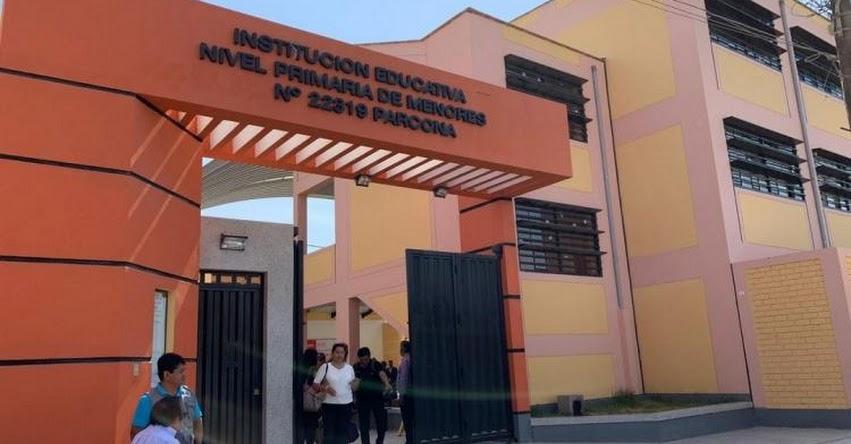 PRONIED: Parcona ya cuenta con nueva institución educativa de primaria para niñas en la región Ica - www.pronied.gob.pe