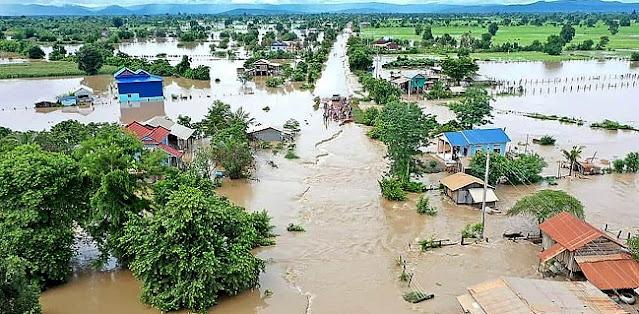 Efek Hujan Dan Badai, Banjir Bandang Rusak Ribuan Lahan Padi