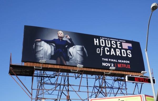 House of Cards final season 6 billboard