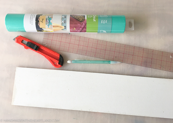 supplies for making your own letters for a letter board