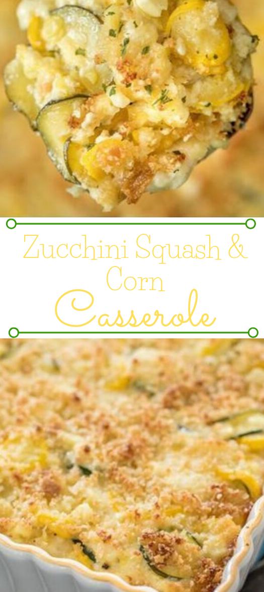ZUCCHINI, SQUASH & CORN CASSEROLE #vegetarian #casserole #cauliflower #breakfast #corn
