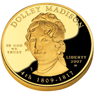 US Gold Coins Dolley Madison First Spouse 10 Dollars Gold Coin
