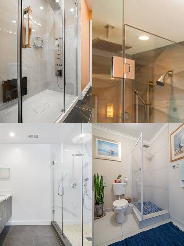 Invisible shower walls