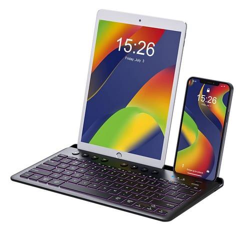 Fatelegend Bluetooth Rechargeable Multi-Device Keyboard
