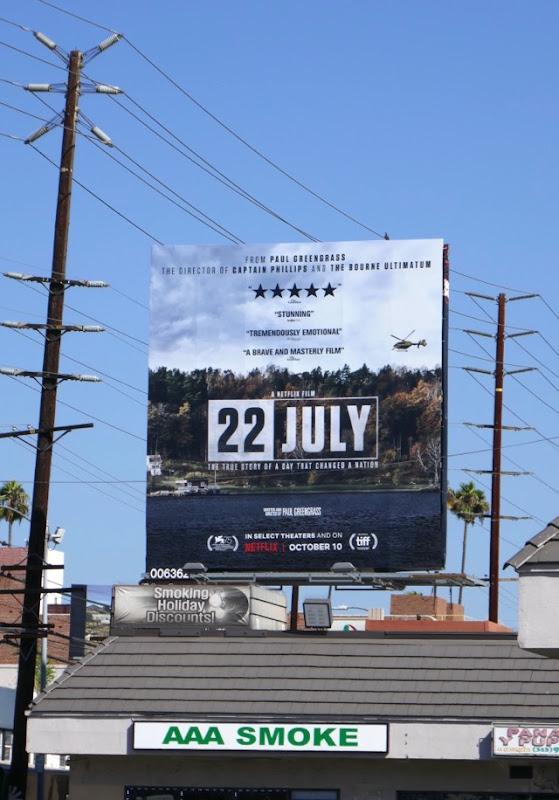 22 July movie billboard