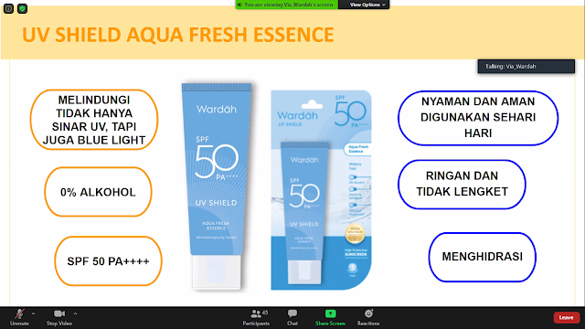 Klaim Wardah UV Shield Aqua Essence