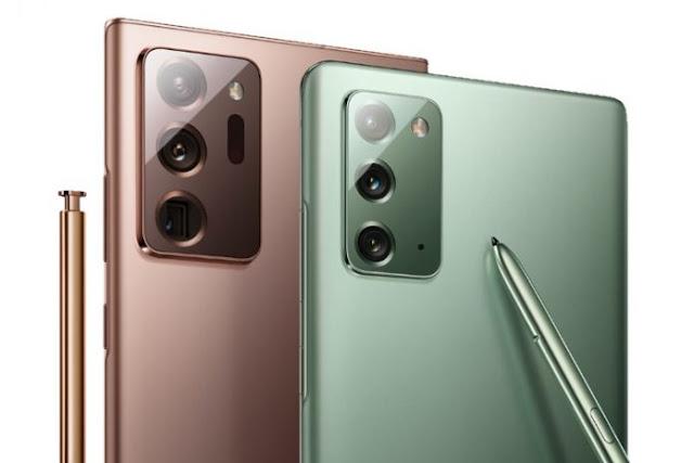 كاميرات سلسلة هواتف Galaxy Note 20