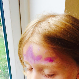 Sensory help with face paint stamps