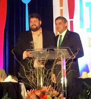 Jay Ducote receives a Pick Your Passion Award from Lt. Governor Jay Dardenne