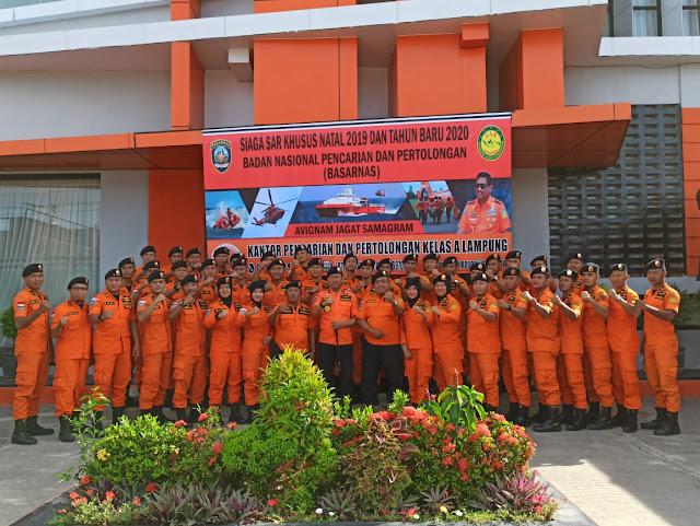 Hadapi Libur Nataru, Basarnas Lampung Gelar Apel Siaga SAR Khusus