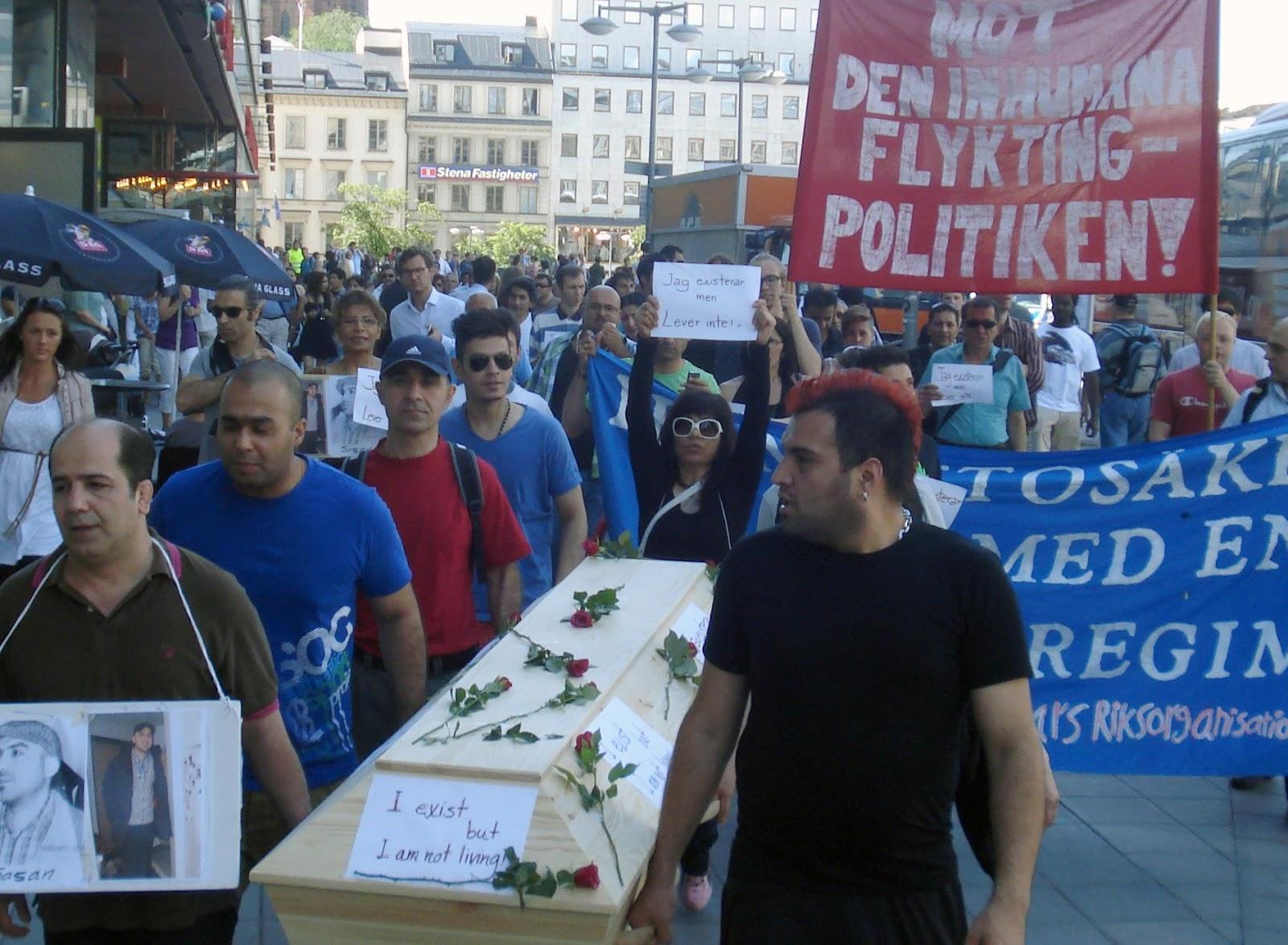 Demonstrerande syndikalister misshandlades av hogerextremister