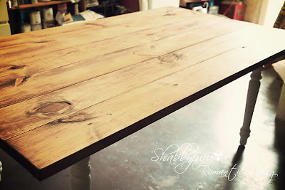 how to stain a table