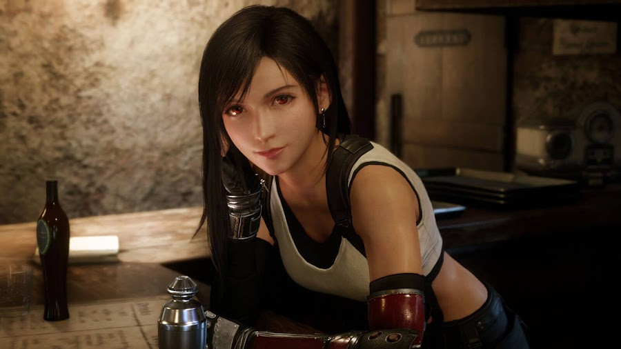 final fantasy 7 remake tifa lockhart screenshot ps4 square enix tgs 2019