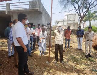 महाराष्ट्र बार्डर पर स्थित चेकपोस्टों का निरीक्षण