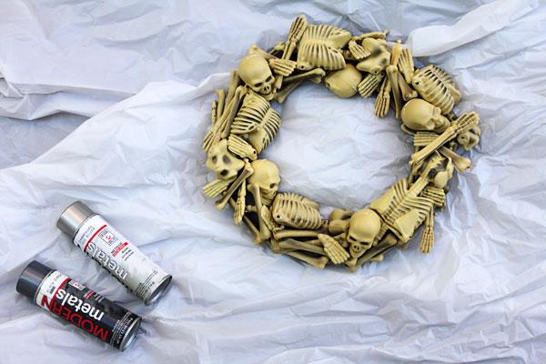 corona, esqueletos, halloween, diys, manualidades