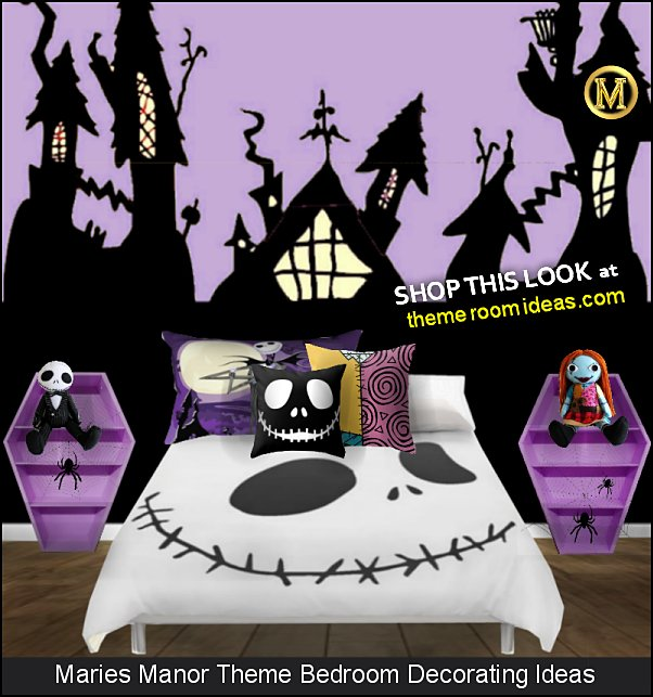 Nightmare Before Christmas bedrooms Sally Finklestein Jack Skellington Before Christmas halloween decorating