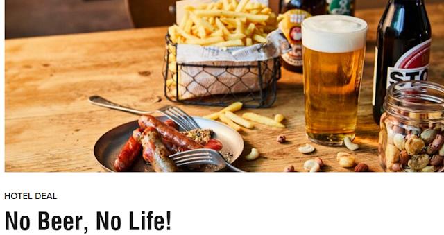 """預訂Marriott萬豪旗下Moxy大阪店(Moxy Osaka Honmachi )""""No Beer, No Life""""套餐可享90分鐘酒吧暢飲(9/29前有效)"""