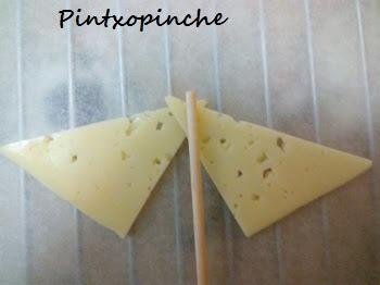 aperitivos, canape, queso, arándanos, aperitivos sencillos y baratos, sin gluten