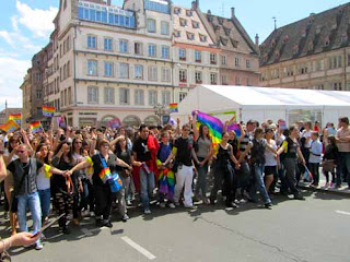 Gay Rights Parade Strasbourg France