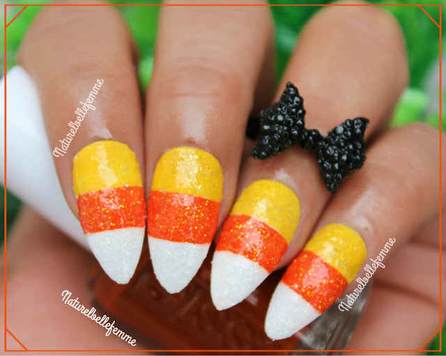 halloween nails candy corn