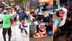 VIDEO: A machete se enfrentaron hombres por el pago de una apuesta en San Agustín