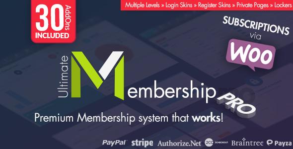 Ultimate Membership Pro WordPress Plugin v9.6