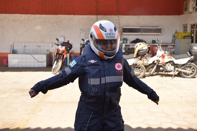 Socorristas de motolâncias do SAMU Aparecida passam a usar traje de proteção durante atendimentos
