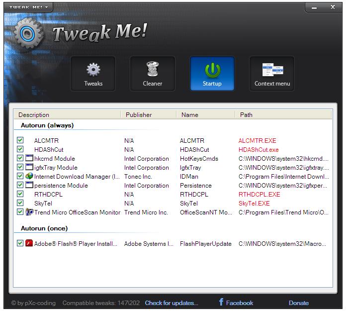 تحميل و شرح Tweak Me  لتحسين نظام الويندوز مجانا