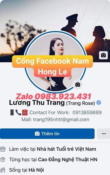 Dịch vụ facebook Nam Hong Le - xác minh tích xanh cho facebook cá nhân - Zalo: 0983.923.431