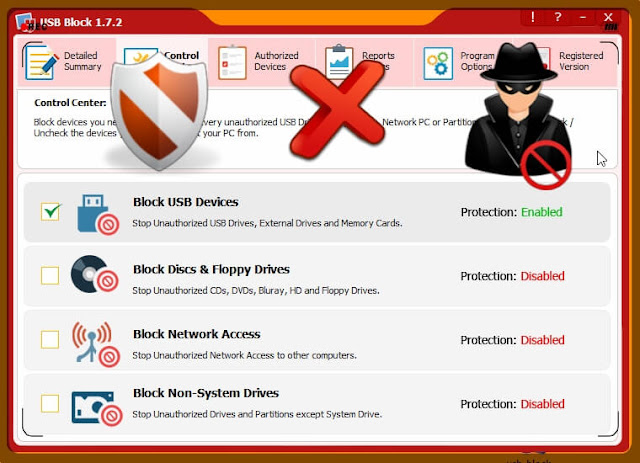 تحميل وشرح برنامج USB Block لمنع تسريب وسرقة البيانات والمعلومات من الحاسوب