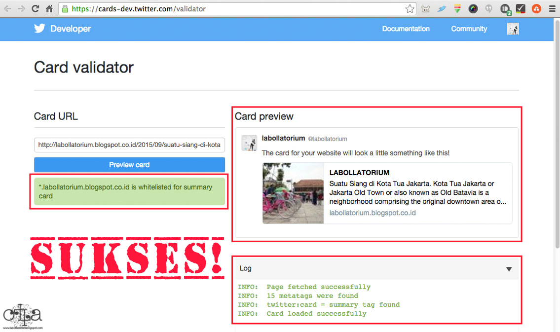 Twitter Cards for Your Blog Twitter Validator