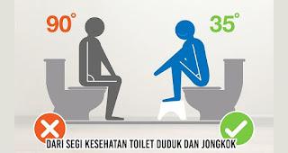 Dari segi Kesehatan Toilet Duduk dan Jongkok