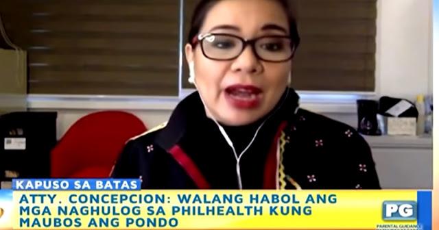 """WATCH: Atty. concepcion: Walang Habol ang mga nag hulog sa Philhealth kung maubos ang Pondo"""""""